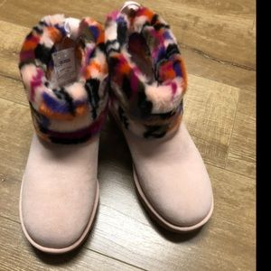Ugg Fluff Mini Quilted Motlee Blush pink sz 9
